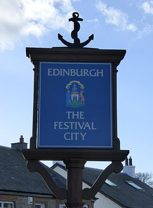 Edinburgh Festival - Sign on the city boundary