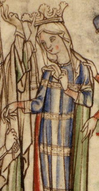 House of Godwin - Portrait of Godwin's daughter Edith, from a 13th-century manuscript of the Vita Ædwardi Regis