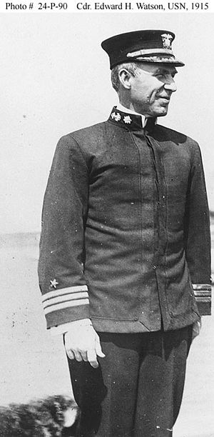 Honda Point disaster - Captain E.H. Watson, shown here as a commander, 1915
