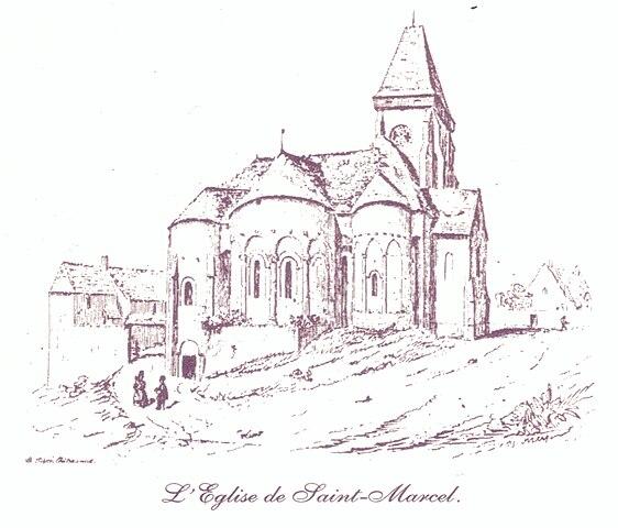 File eglise de saint marcel indre wikimedia commons - Dessin eglise ...