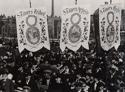Eight-hour campaign in Denmark, 1912. Eight hour campaign in Denmark 1912.jpg