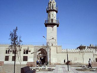 Minya, Egypt - El-Amrawy Mosque, built in the 11th Century, an outstanding example of Fatimid Islamic architecture of the time, with a remarkable structural and decorative use of stonemasonry