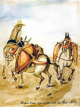 Pancho Fierro - Image: El que trae aguardiente de Yca. 1820)