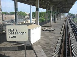 Ghost station - 58th Street on the Chicago 'L' Green Line