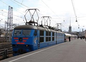 Riihimäki–Saint Petersburg railway - Sibelius train at the Finlyandsky Rail Terminal, 2007
