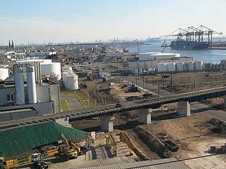 Arthur Kill - Image: Elizabeth NJ Industry