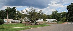 Elizabeth Park, Hartford - The greenhouse and herb garden at Elizabeth Park