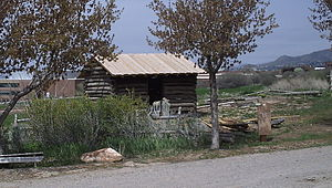 Emery, Utah - The earliest remaining building from Emery, relocated to This Is the Place Heritage Park in Salt Lake City