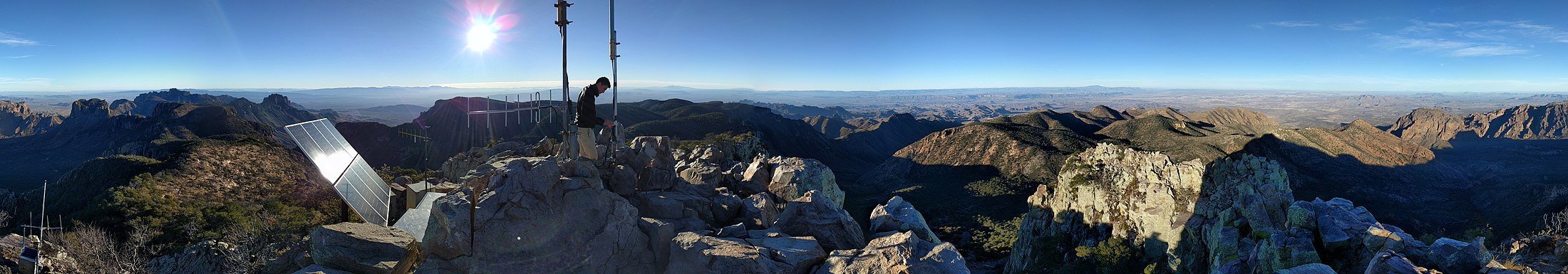 Emory Peak's summit, the highest point in Big Bend National Park Emory Peak's summit.jpg