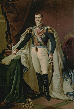 Agustín de Iturbide - Portrait of Agustín at the National Palace in Mexico City