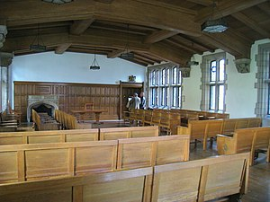 Nationality Rooms - The English Classroom, the largest of the 30 Nationality Rooms, contains several artifacts from the original second House of Commons