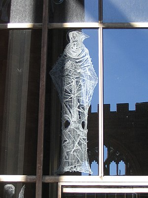 John Hutton (artist) - Image: Engraving of St Cuthbert, Coventry Cathedral geograph.org.uk 555860