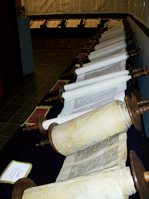 Tanakh - Complete set of scrolls, constituting the entire Tanakh.