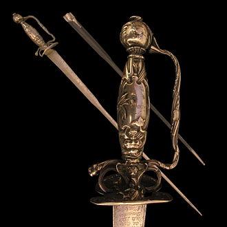 Weapons of Honour - Sword of honour of Pierre Anguier.