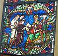 Erfurt Barfüßerkirche - Franziskusfenster 1 Bestätigung Ordensregel.jpg
