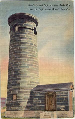 Erie Land Light - On a pre-1914 postcard
