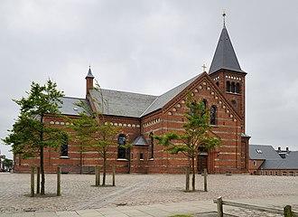 Religion in Denmark - Vor Frelsers Kirke in Esbjerg, Jutland.