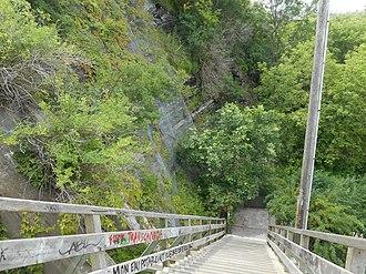 Promontory of Quebec - Image: Escalier des Glacis 18