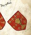 Escudo da Galiza no armorial Hyghalmen (séc. XV-c. 1520).jpg