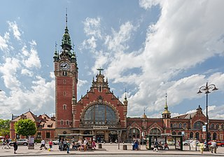 railway station in Gdańsk, Poland