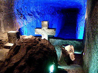 Mineral industry of Colombia - Halite hand-carved Salt Cathedral of Zipaquirá