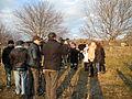 Estonian FM Keit Pentus-Rosimannus visited the administrative boundary line in Khurvaleti. (16059387621).jpg