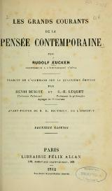 Eucken - Les Grands Courants de la pensée contemporaine, trad. Buriot-Luquet, 1912.djvu