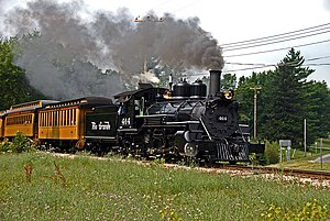 Rio Grande class K-27 - Image: Ex D&RGW 464 on the Huckleberry Railroad, Flint, Michigan
