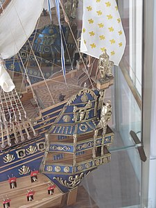 Ex-votos of Annonciade model of Soleil Royal (close-up).jpg