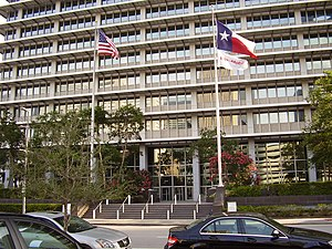 ExxonMobil - ExxonMobil Building, former ExxonMobil offices in Downtown Houston were vacated in early 2015.