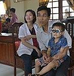 Eye screening for kindergarten children in Quoc Oai district of Hanoi (14124248509).jpg