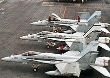 VFA-15 Valions CV-67 Uss John Kennedy Eeuu Marino 97M Crucero F-18 Squadron UTP