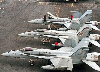 VFA-15 - Image: F 18s VFA 15 2000