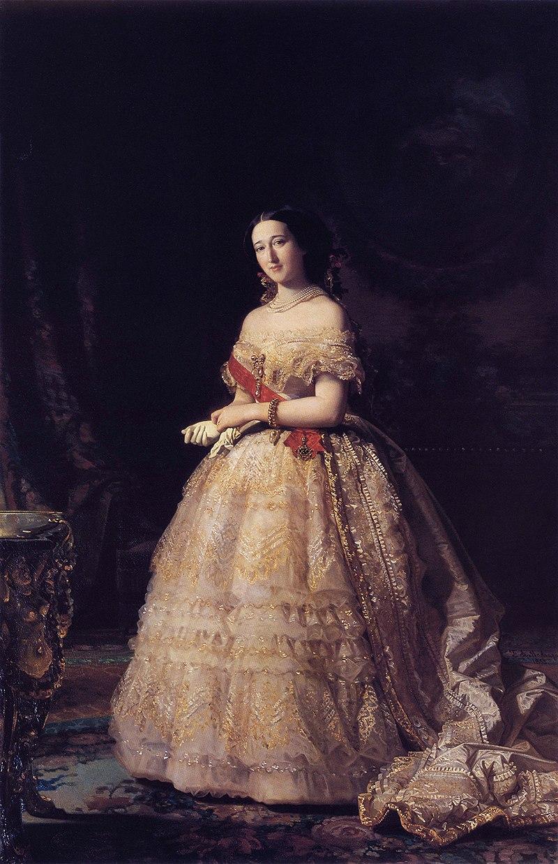 F. de Madrazo - 1855, Francisca de Sales Portocarrero y Palafox, Duquesa de Alba (Palacio de las Dueñas, Sevilla).jpg