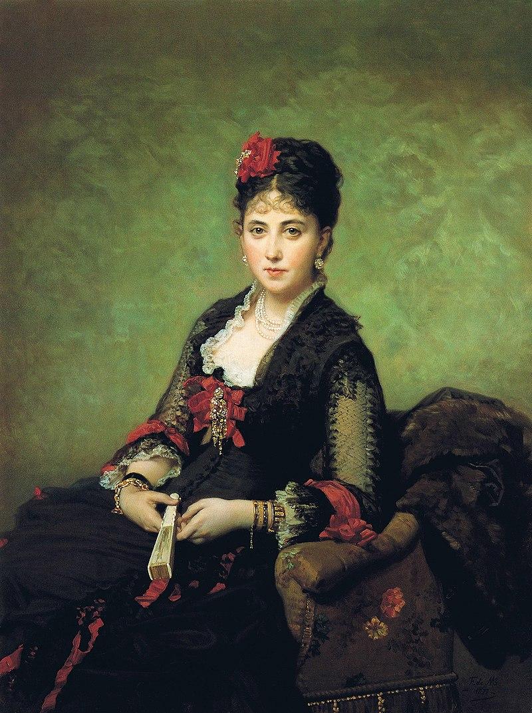 F. de Madrazo - 1877, María de los Ángeles Beruete y Moret, Condesa de Muguiro (Colección particular, Madrid, 131 x 86 cm).jpg