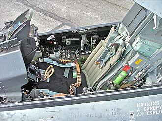 Side-stick - F-16 cockpit showing side-stick