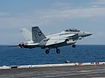 FA-18F Super Hornet of VFA-41 is launched from USS John C. Stennis (CVN-74) in the South China Sea on 28 February 2019 (190228-N-KN684-0279).JPG