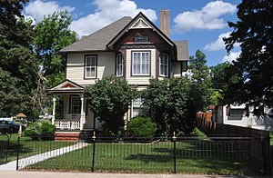 National Register of Historic Places listings in Lawrence County, South Dakota - Image: FAYETTE COOK HOUSE, SPEARFISH, LAWRENCE COUNTY, SD