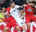FC Pakhtakor player Dragan Ceran vs FC Persepolis players.jpg