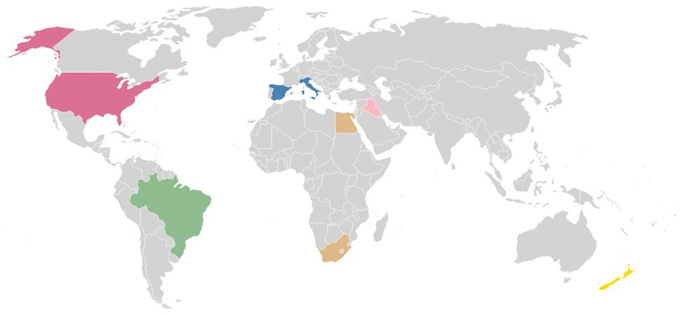 FIFA confederations cup 2009 Teams