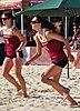 FSU sand volleyball inter-squad match, Feb 2014 (12259613585).jpg