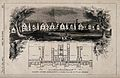 Facade, grounds and floor plan of the lunatic asylum, Aberga Wellcome V0012134.jpg