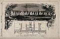 Facade, grounds and floor plan of the lunatic asylum, Aberga Wellcome V0012134.jpg