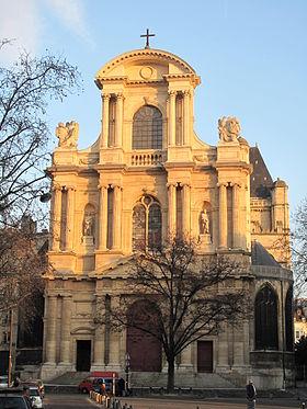 Façade de l'église, vue l'ouest