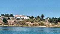 Face sul do Forte de São João, visto da Ilha de Cabanas.jpg
