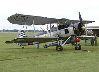 815 Naval Air Squadron - A still flying example of a Fairey Swordfish