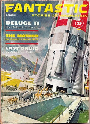 Fantastic (magazine) - Cover of the October 1961 issue, by Alex Schomburg