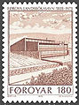 Faroe stamp 035 new national library.jpg