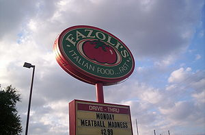 English: Picture of Fazoli's sign.