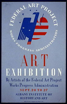 Poster for Federal Art Project exhibition of art by WPA ...